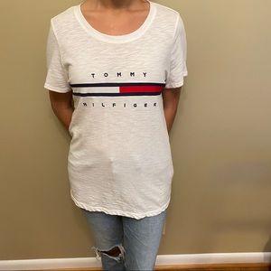 Tommy Hilfiger Big Logo Line Tee Shirt